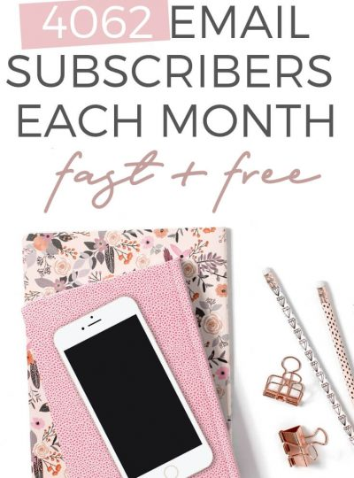 Grow your email list , where to get subscribers, how I get over 4000 subscribers a month through opt-in freebies and landing pages without ads