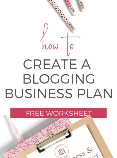 How to create a blogging business plan