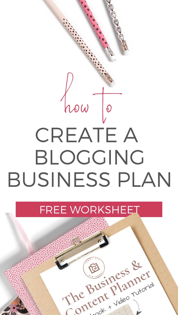 How to write a business plan for YOU, why you need to write it out on this blogging business planner. It includes a content calendar template and I show you how to use it. Free template and video walk-through. You don't need a 20 paged plan if you're not getting loans or investments. You just need all your ideas in one cohesive outline.