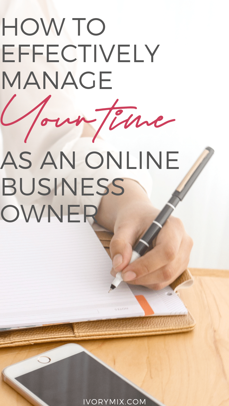 Learn how to manage your time in your online business with these time management hacks for blogs and more