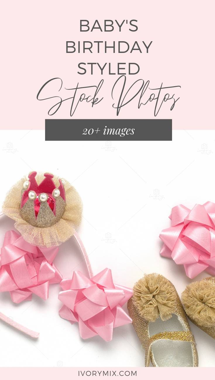 Birthday Baby Stock Photos - Perfect Styled Stock Photos for blogs about kids, children, and babies - also great for mocking up cards and invitations and printables