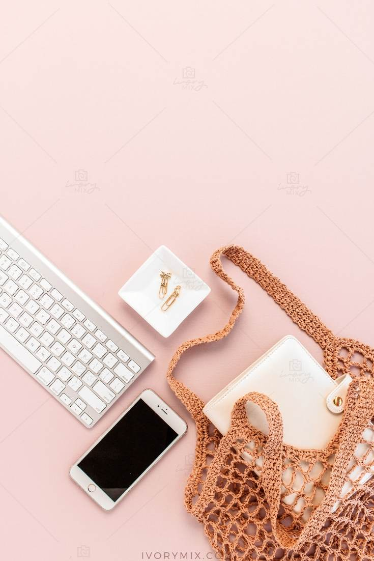 pale pink selfcare styled stock photos