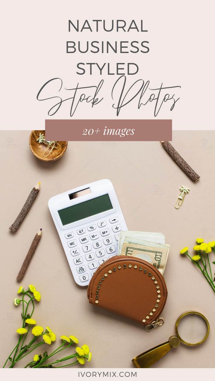 Neutral Styled Flatlay Stock Photos - great for theNatural Health and Wellness Business focused on Financial Abundance too