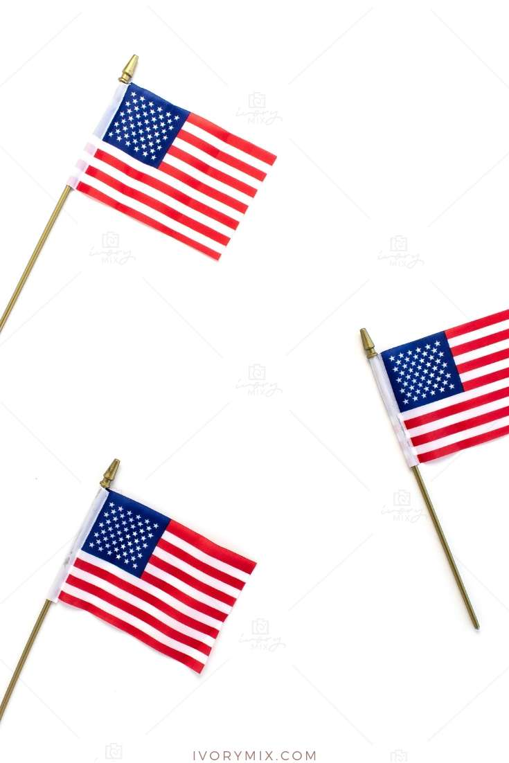 simple and free styled stock photos for american holidays like fourth of july, memorial day, labor day, veterans day includes red white and blue flags and pinwheel