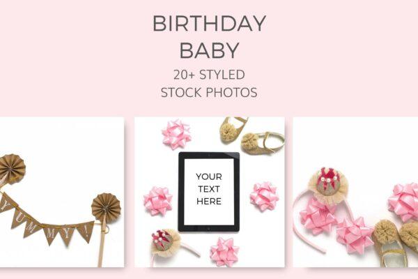 Birthday Baby Stock Photos