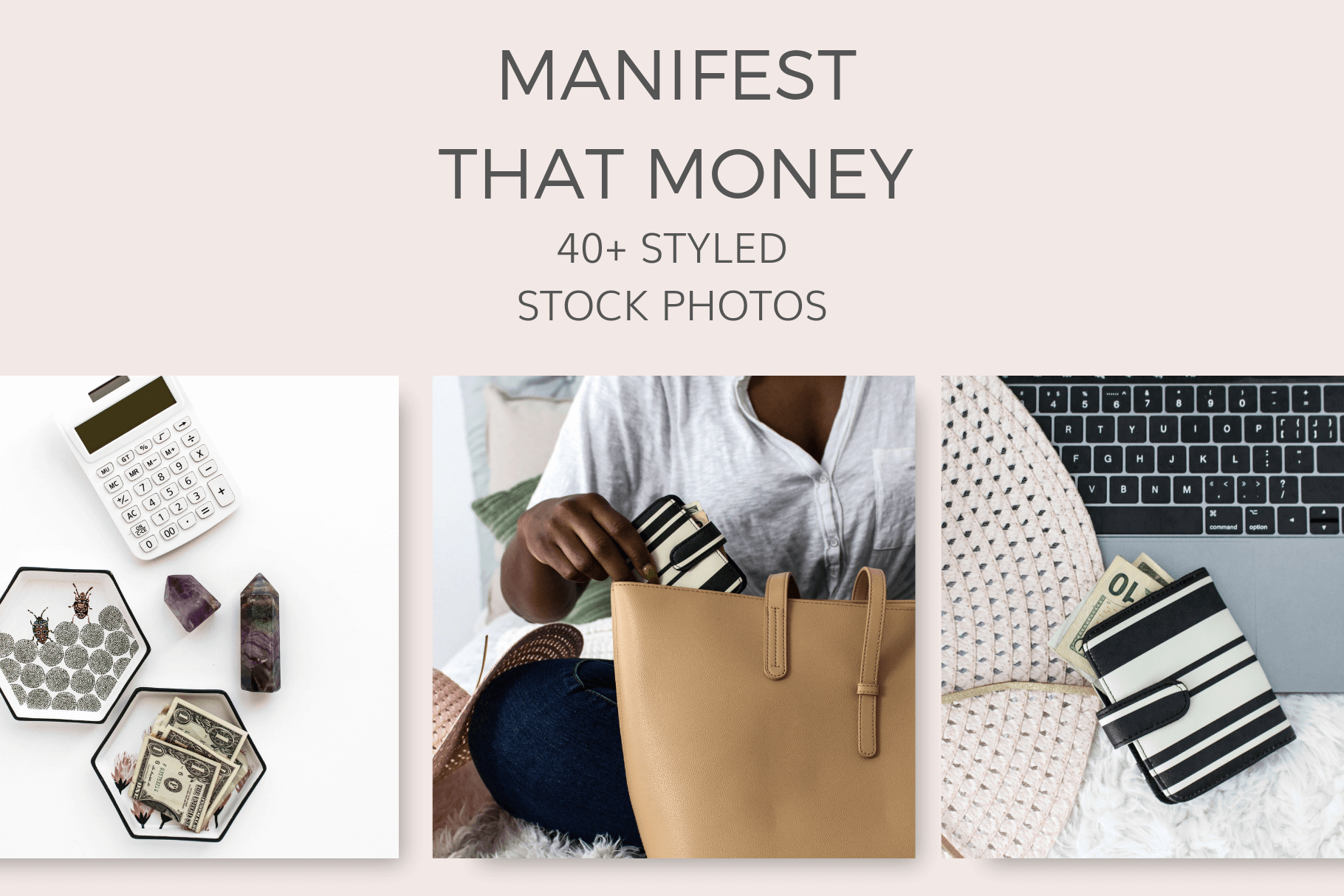 Manifest Money Mindset Styled Stock Photos