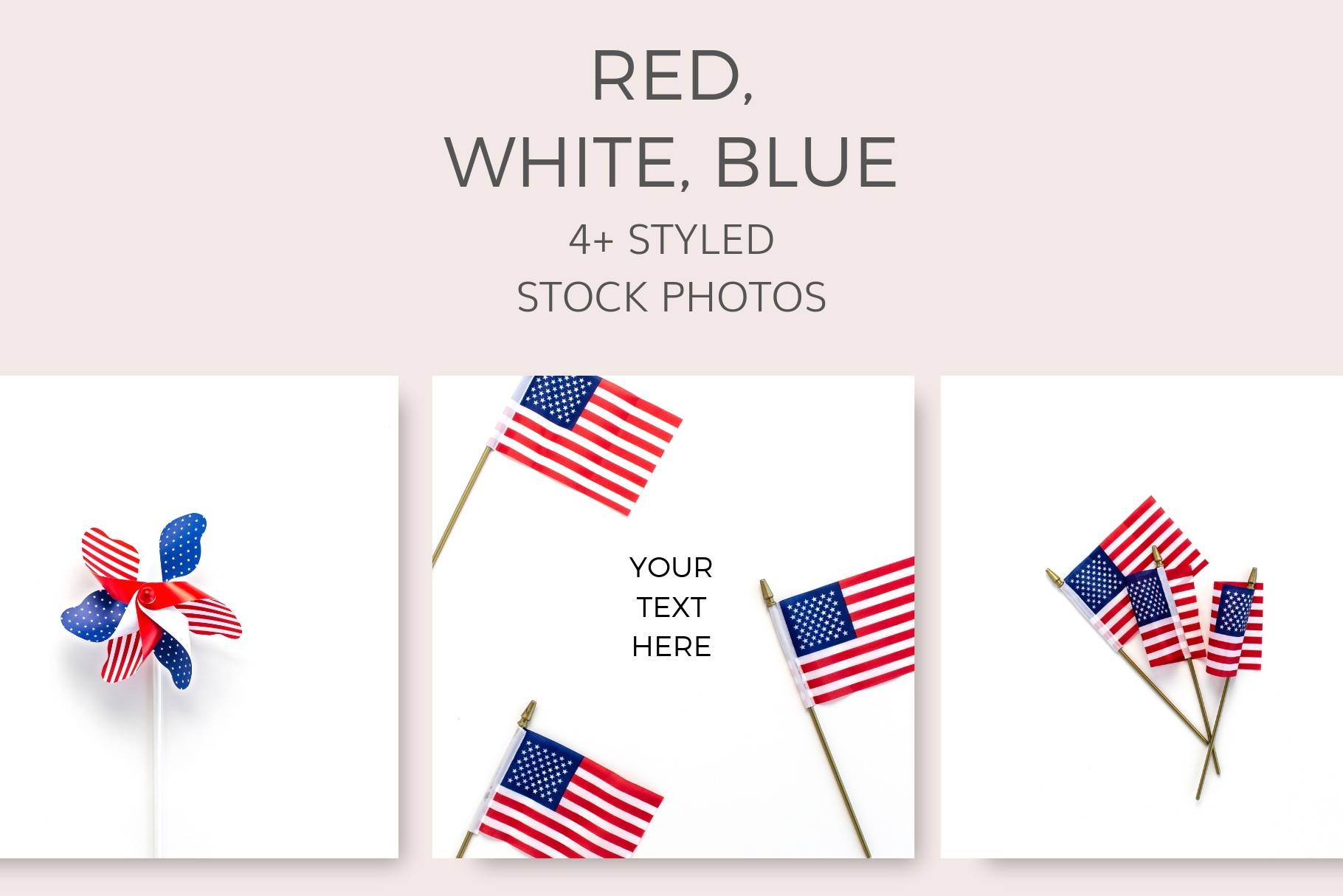 Red White Blue Stock Photos