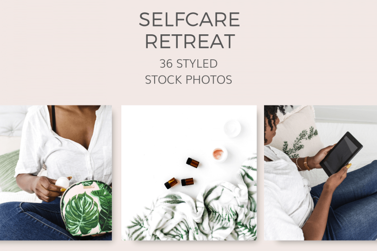 Selfcare Retreat Styled Stock Photos