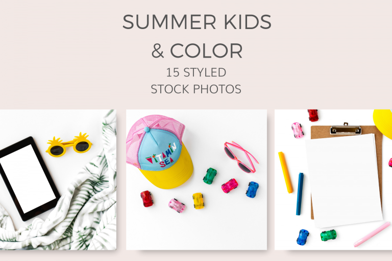 Summer-kids-toys-stock-photos-styled