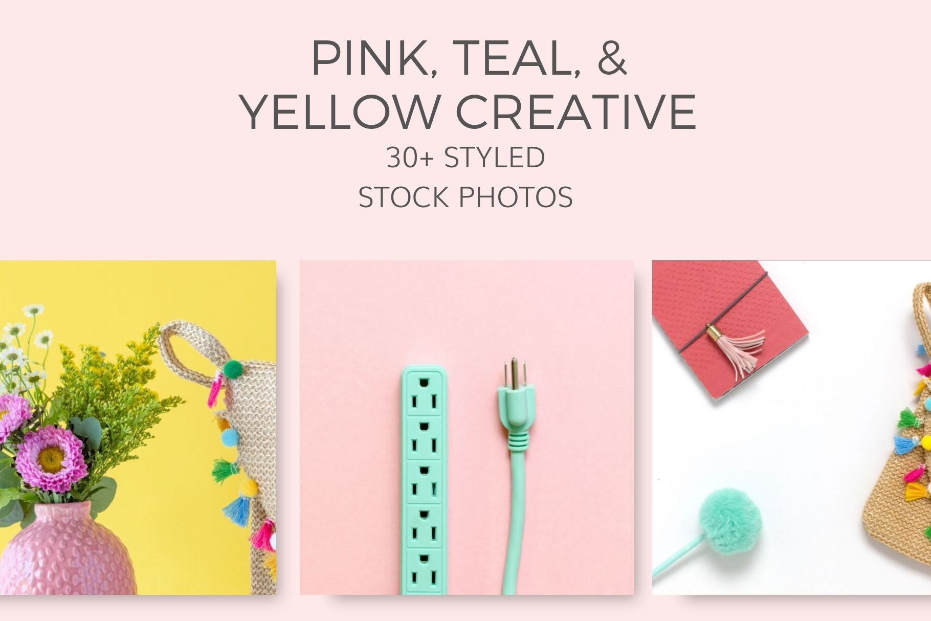 Pink teal yellow Styled Stock Photos by Ivory MIx(9)