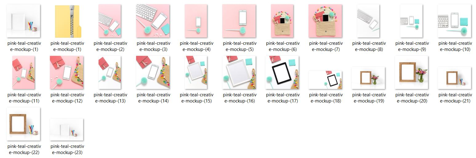 pink, teal, yellow, mockups Styled Stock Photos by Ivory MIx(1) sample