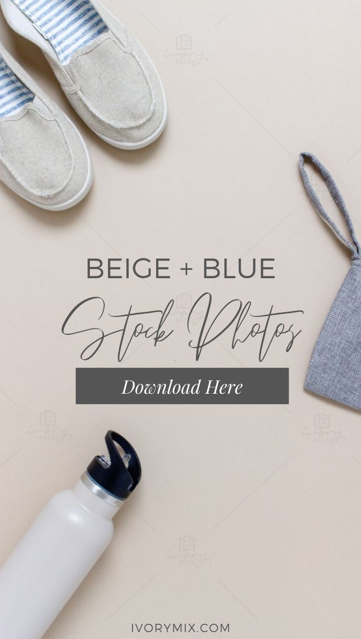 Beige and Blue Creative Styled stock photos