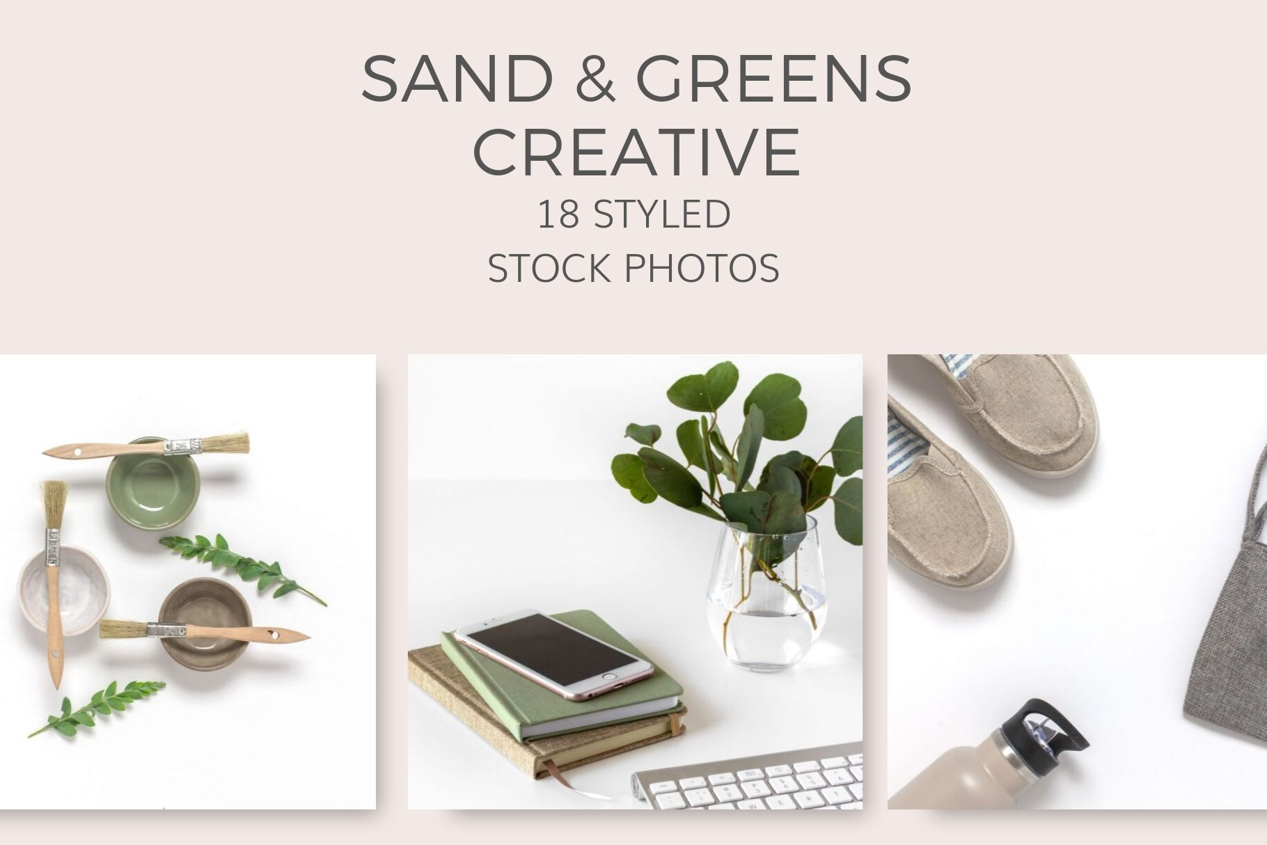 tan sand and green creative Styled Stock Photos by Ivory MIx(4)