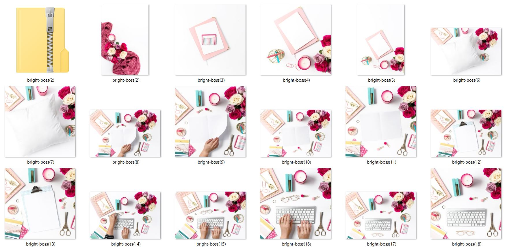 Colorful Styled Stock Photos Pink Teal