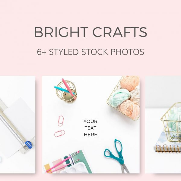 Craft Bright Vibrant Colors Styled Stock Photos