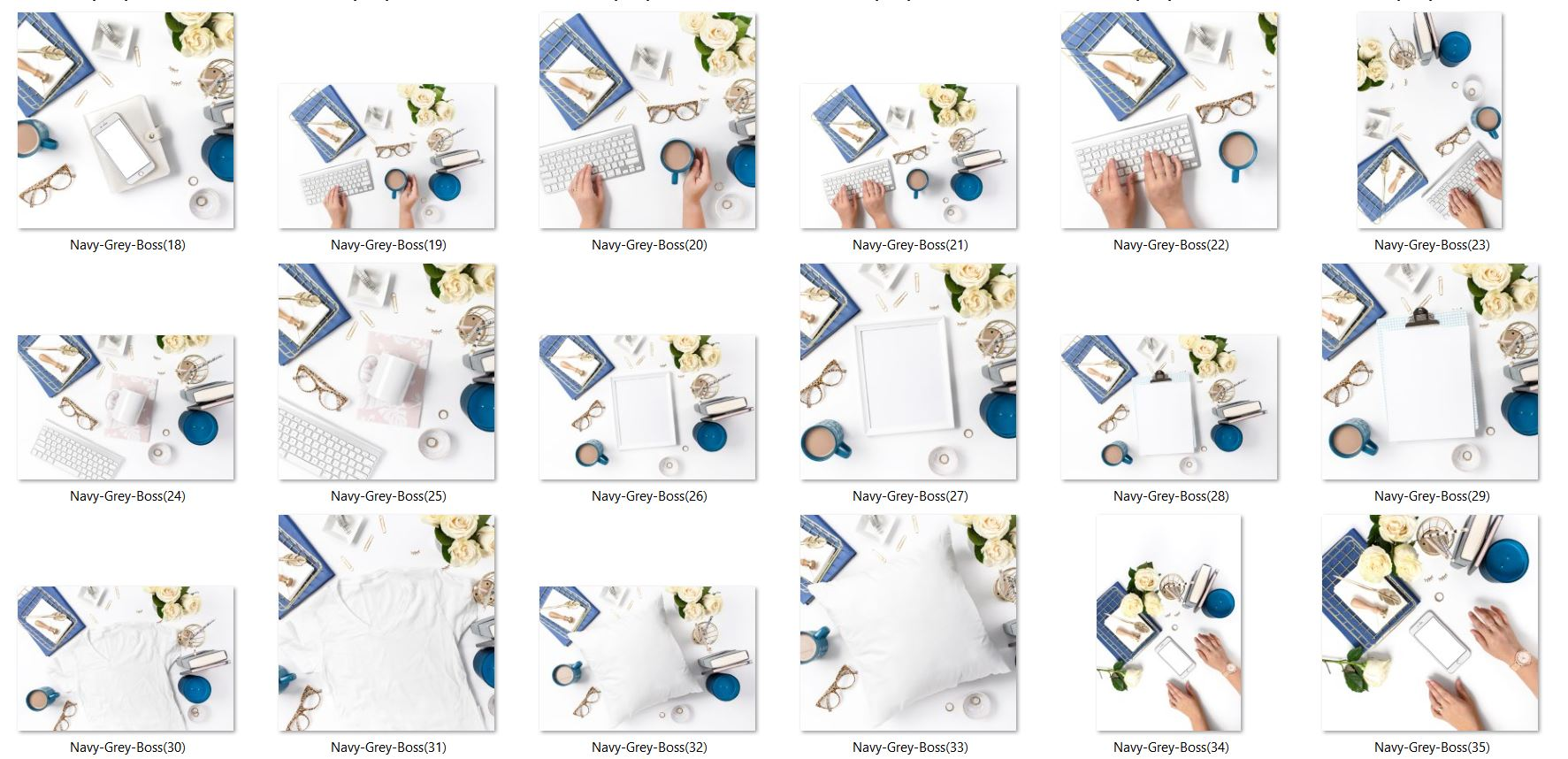 Navy White Gray Grey Business Styled Stock Photos Flat Lays