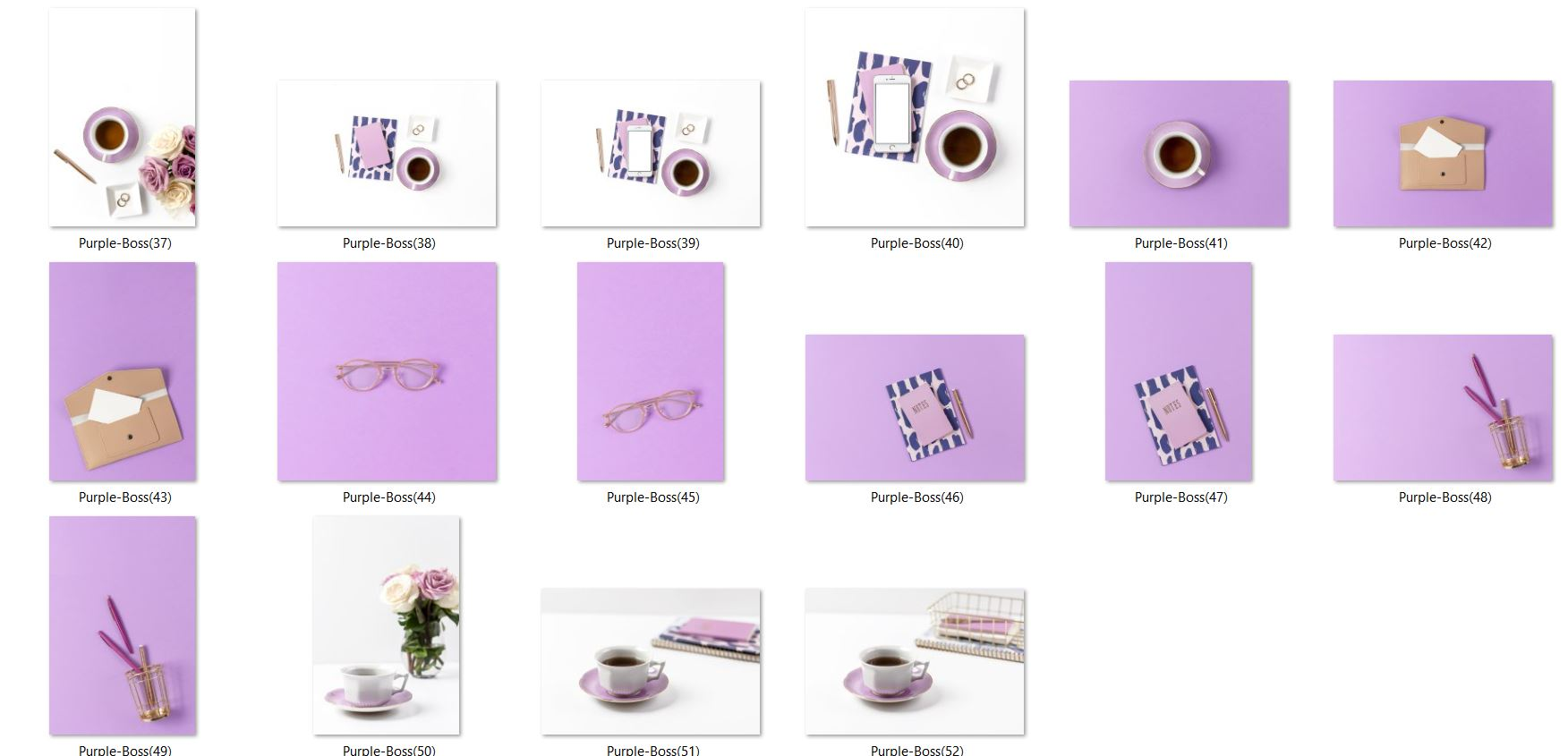 Styled stock photos purple business