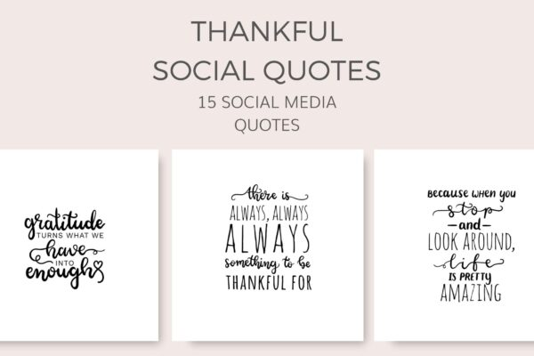 thankful grateful thanksgiving social media quote graphics