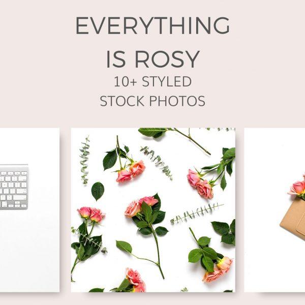 rose_flat_lay_stock_photos
