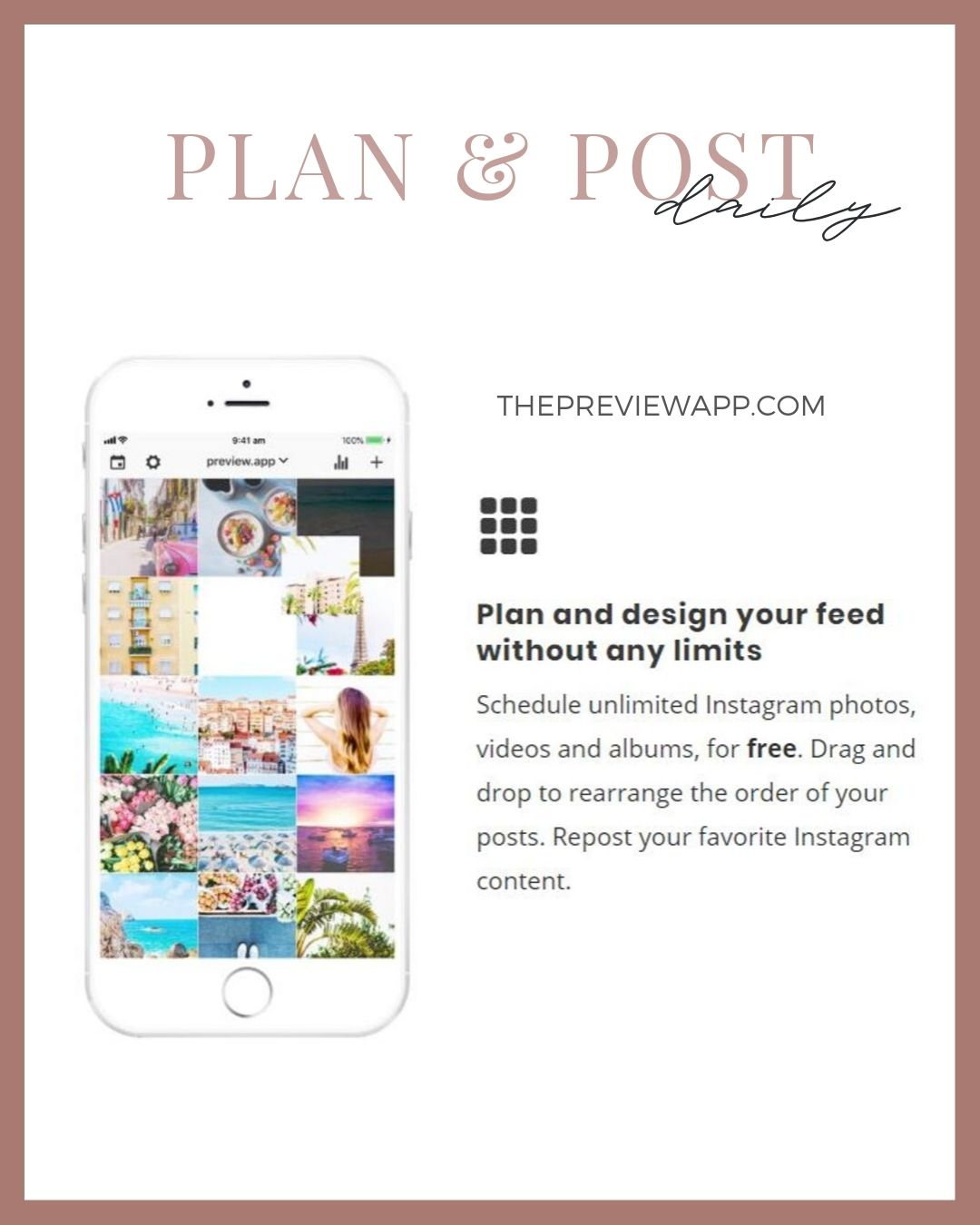 plan Instagram content