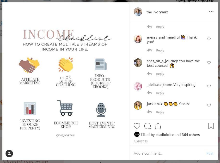 infographic informational instagram content