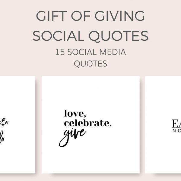 Gift of Giving Social Quotes Graphics for Instagram