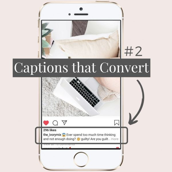 Instagram captions strategic and engaging that convert for business to help grow engagement and audience followers on Instagram