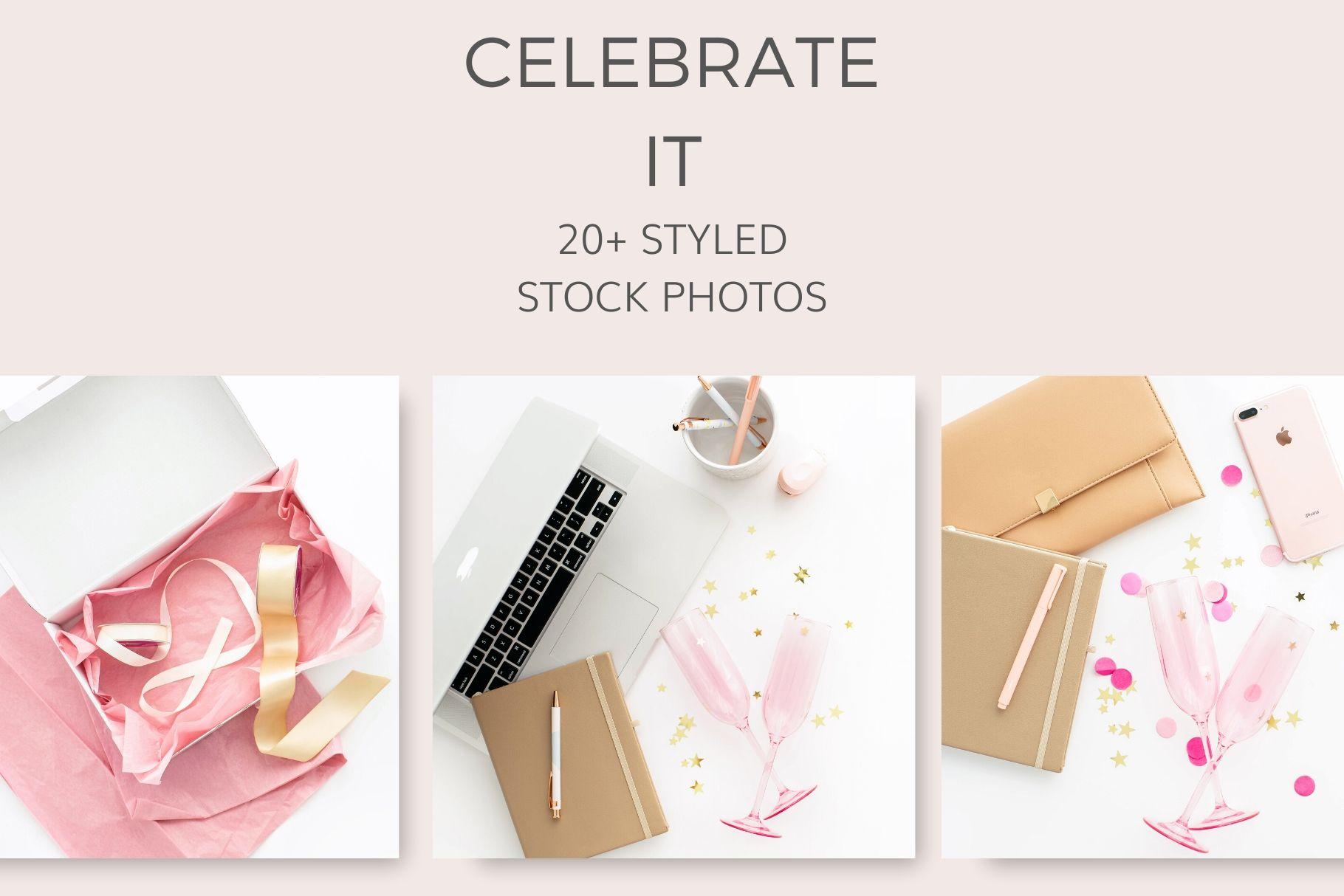 celebrate it stock photos