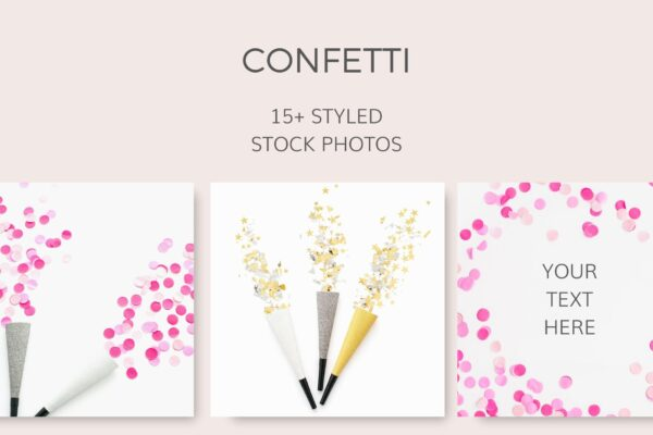 Confetti Styled Stock Photos