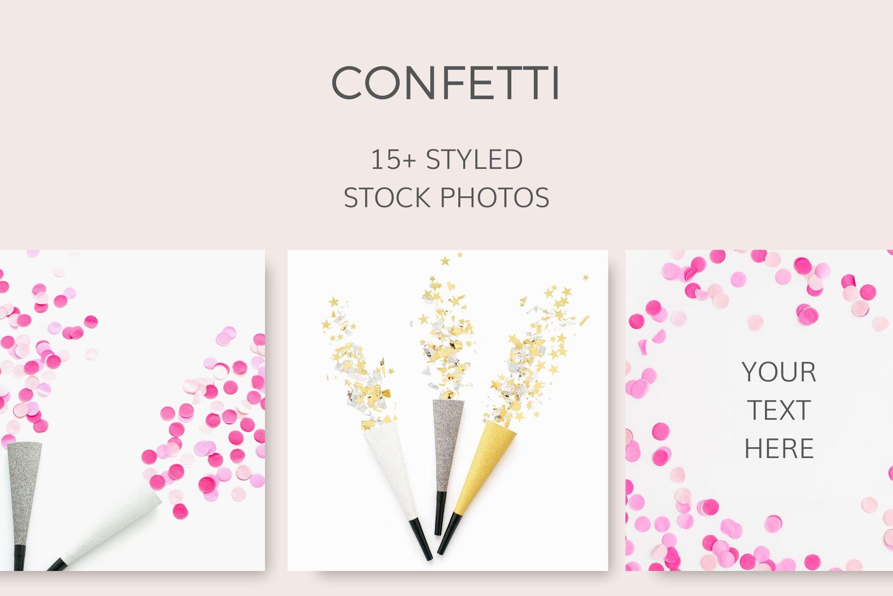 Confetti Styled Stock Photos