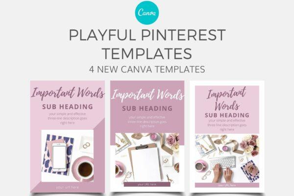 Playful Pinterest Canva Templates