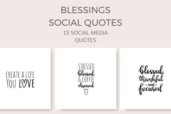 blessings social quote graphics samples