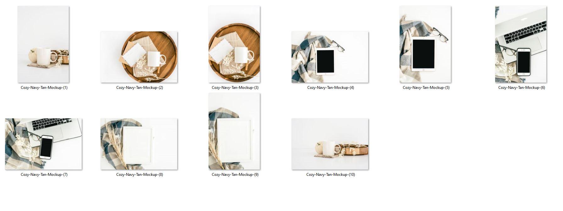 cozy autumn mockups stock photos sample