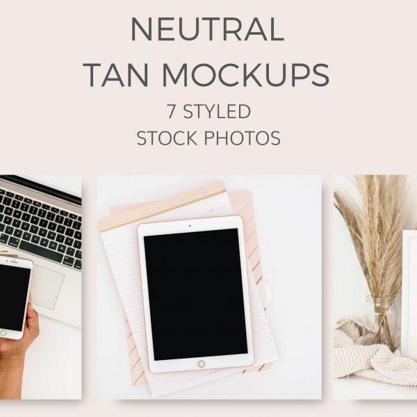 nautral tan mockups stock photos