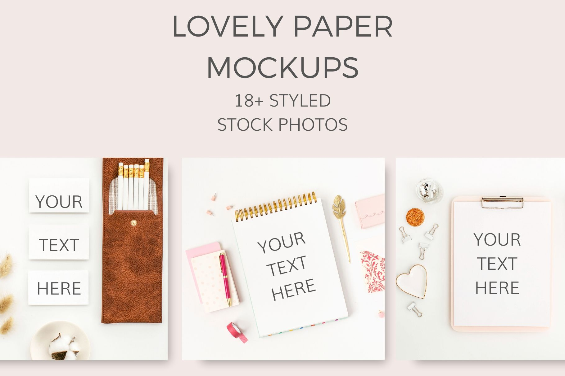 LOVELY PAPER MOCKUP STOCK PHOTOS