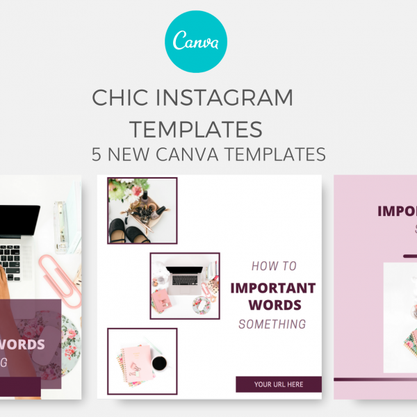 playful instagram canva templates - purple