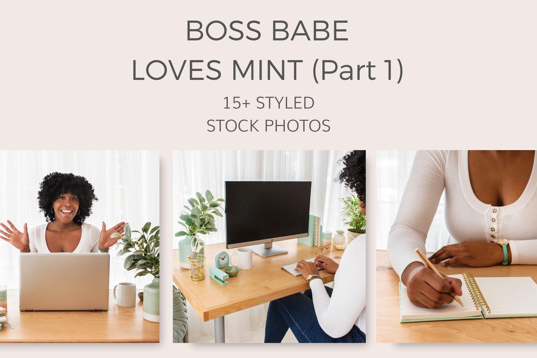 boss babe stock photos mint green sea foam