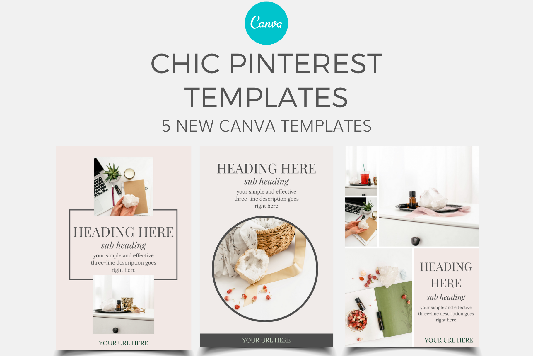 chic pinterest canva templates