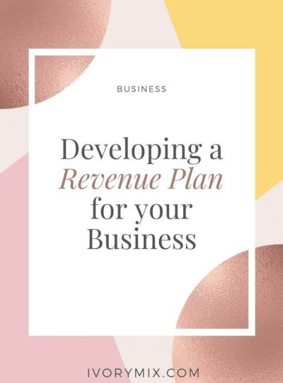 Developing a revenue plan for your blog and online business
