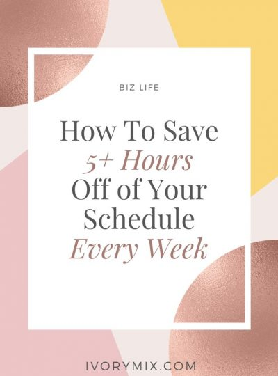 How to save time your business schedule every week
