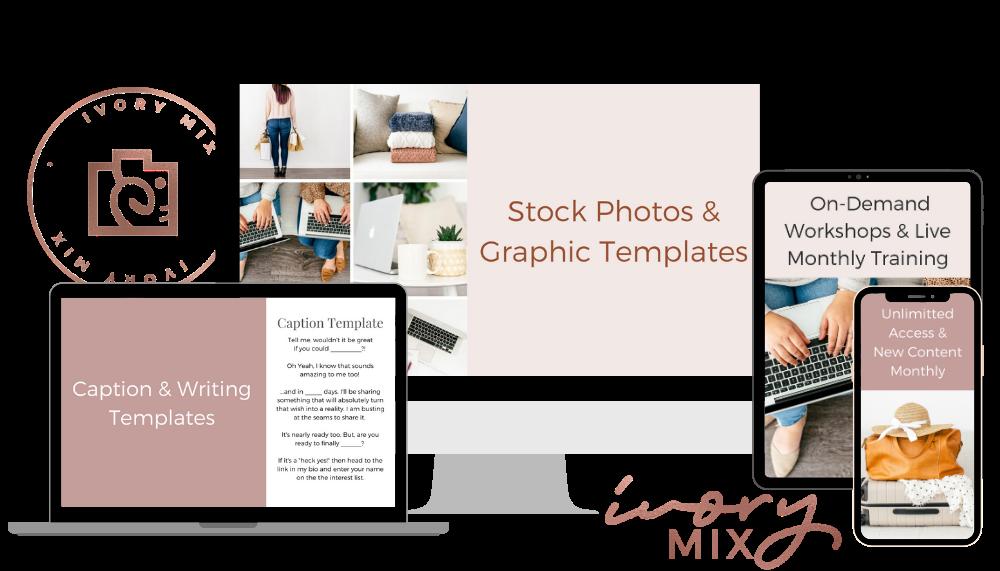 ivory mix stock photo Membership Mockup Screens (1)