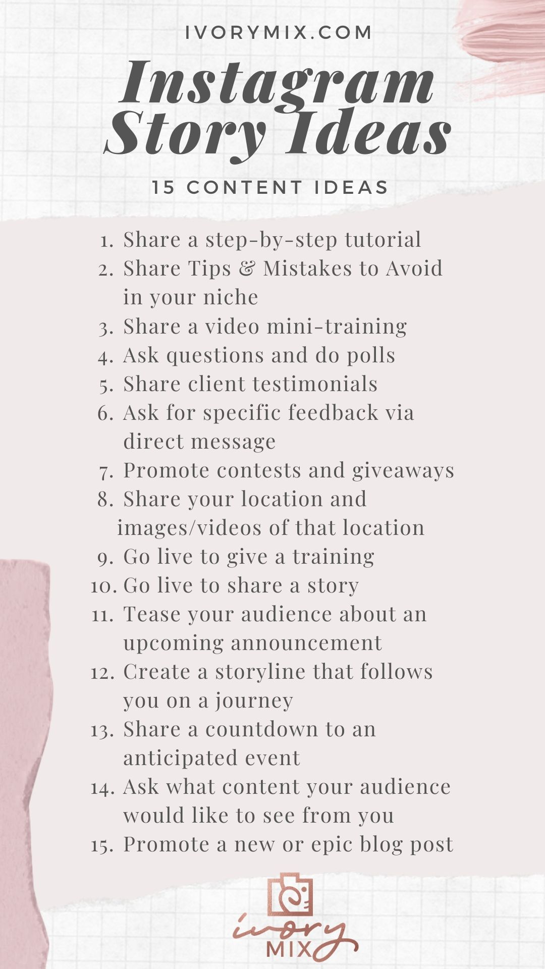 15 content ideas for Instagram Story