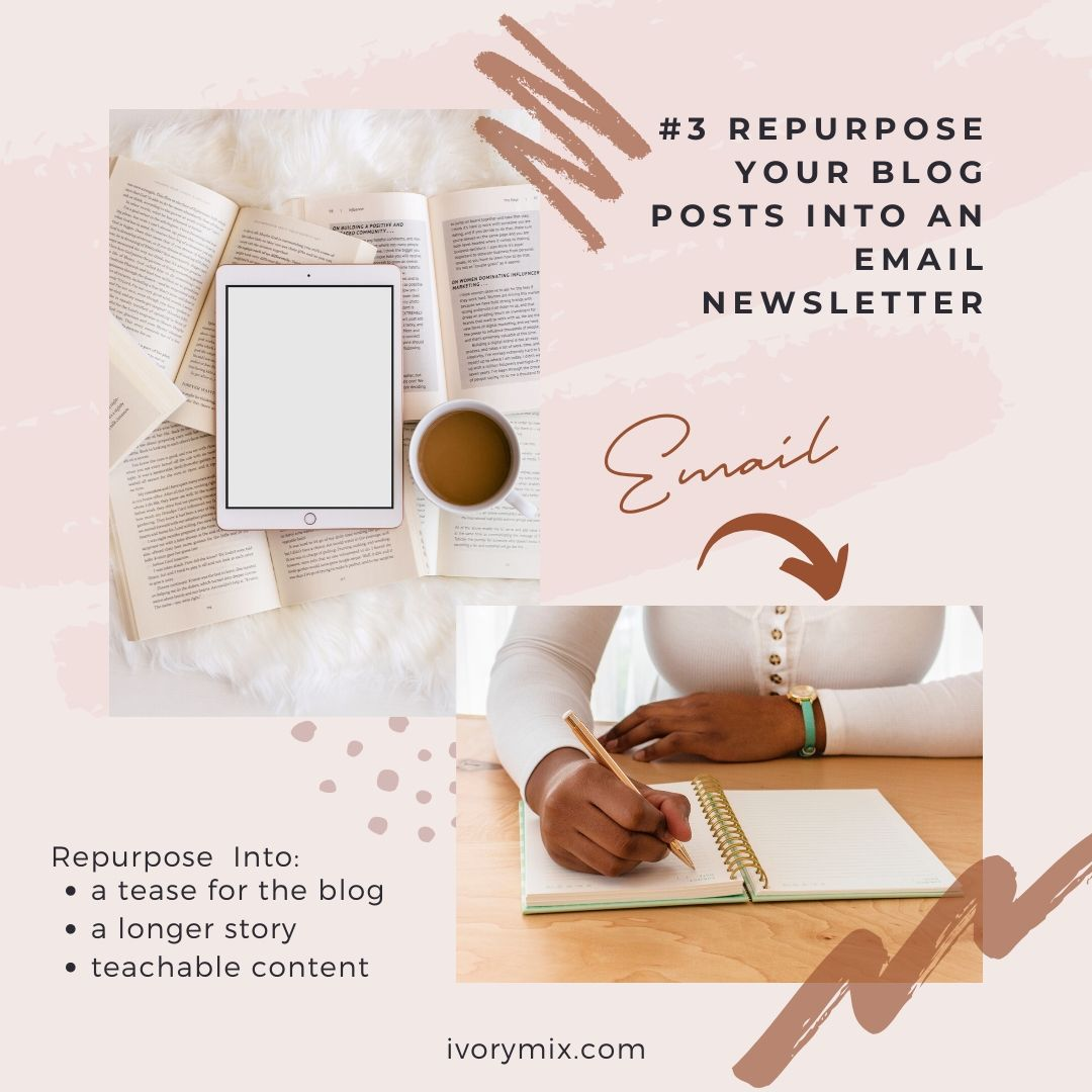 how to repurpose your blog posts and content for more traffic