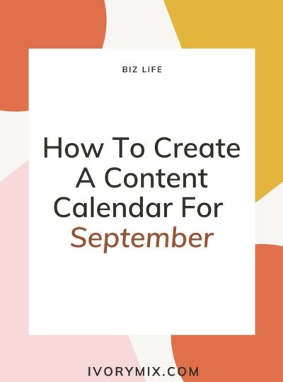 how to create a content calendar for september - cover