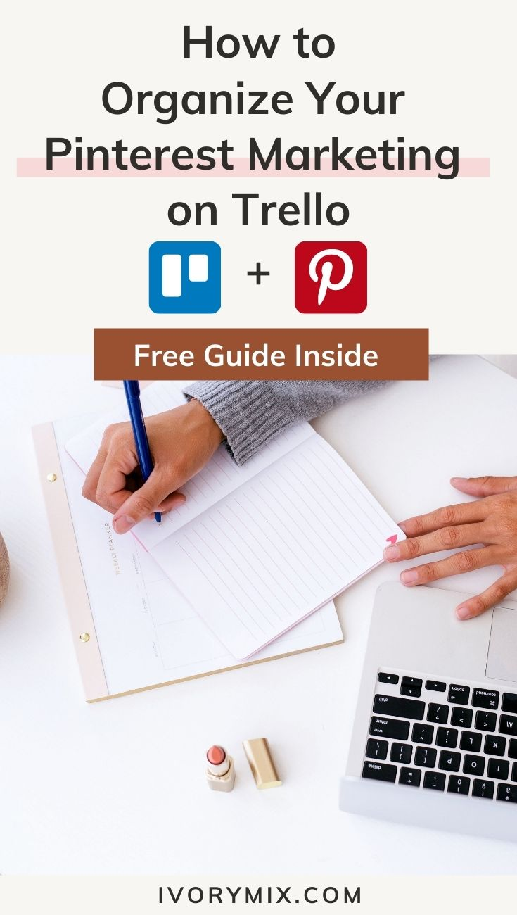 how to organize your content calendar on Pinerest and trello