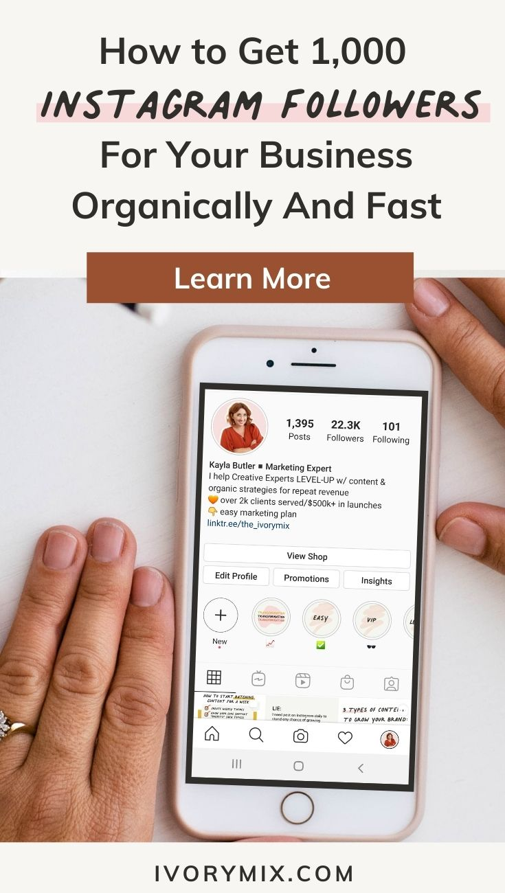 How to get 1000 instagram followers for your business organically and fast