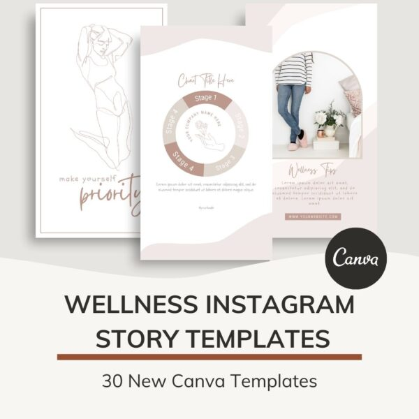 wellness instagram story templates for canva