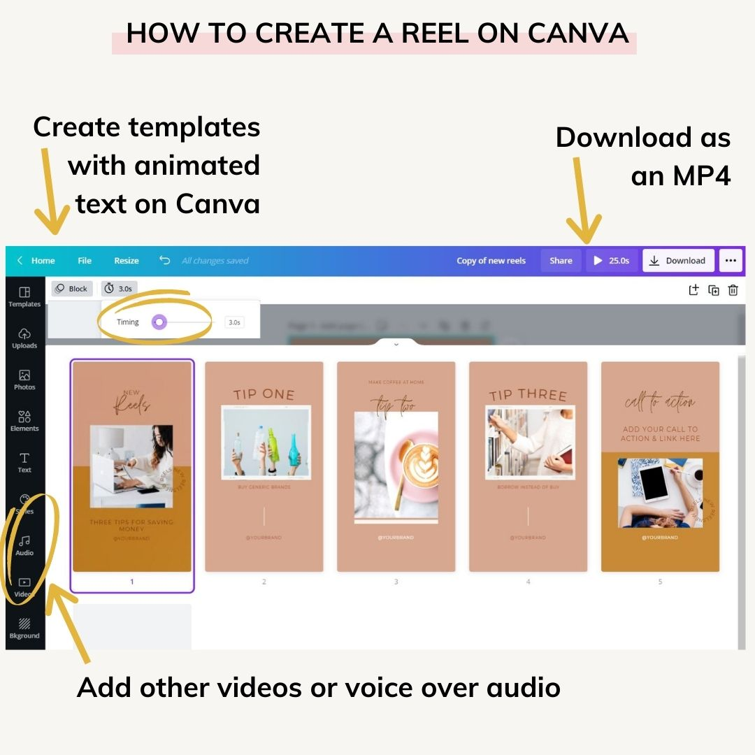 canva templates for instagram reels